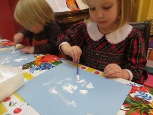 winter sensory activity for kids