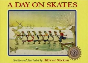vintage winter book, ice skating book