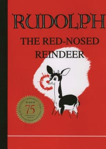 christmas books, vintage rudolph book